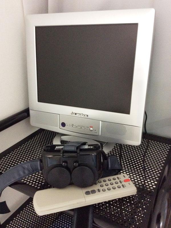 眩暈検査 赤外線CCDカメラ